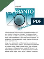 26 de Julio-Nace El Esperanto