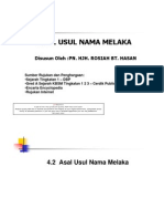 4.2 Asal Usul Nama Melaka