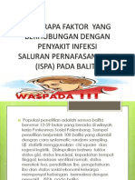 Beberapa Faktor Yang Berhubungan Dengan Penyakit Infeksi