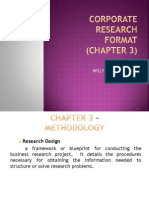 Format - Corporate Research - Chapter 3  this a format for methodology and description of  analytic process of survey that you encounter in your thesis case study.