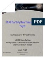 The Thirty Meter Telescope (TMT) Project