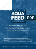 The potential of microalgae meals in compound feeds for aquaculture