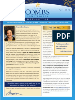 Fall 2013 Susan Combs Newsletter
