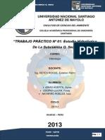 Estudio Hidrológico De La Subcuenca  Q. Seca.