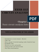 Basic circuit analysis laws