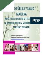 EXPOSICIÓN 1 SALUD PUBLICA Y SALUD MATERNA