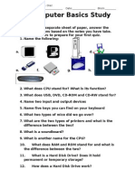 computer basics study guide
