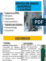 epi - INTEGRANTES DEL EQUIPO QUIRÚRGICO