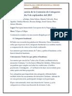 Acta de La Reunion de La Comision de Catequesis Del Dia 9 de Septiembre Del 2013