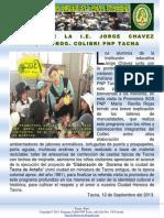 Visita de La i.e. Jorge Chavez