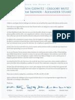 Cross Finance Letter - Sept 2014