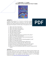 Think Teen 3rd Grade Book Introduction Activity Leaflet