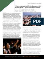 OM PhD Factsheet 2011