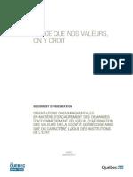 Document d'orientation du Parti québécois