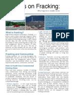 FacFact Facts on Fracking for Legislators a