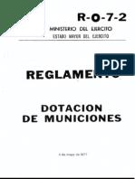 R 0 7 2 Dotacion Municion