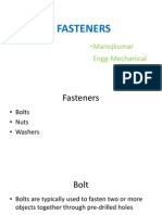 Fasteners(Bolts and Nuts)