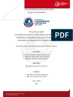 Ramirez Salgado Huapaya Factores Gestion