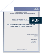 Sostenibilidad de La Deuda (Solvencia Del Gobierno en Tiempos de Crisis) (1)