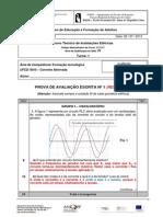 Teste-01 EFA-1 Corrente Alternada 2012-13 Resolvido