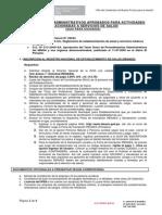 Procedimientos Administrativos Para Actividades de Servicios de Salud
