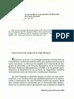 4.Debate sobre teoría económica a propósito de Moneda y teoría del valor de Carlo Benetti.De la vega