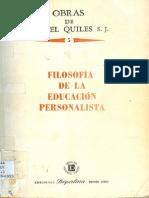 Quiles Ismael - Volumen 05 - Filosofia de La Educacion Personalista (1981)
