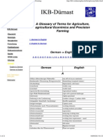 A Glossary of Terms for Agriculture and Precision Farming