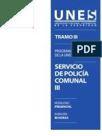 Programa Servicio de Policia Comunal III