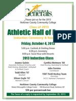 Herkimer Hall of Fame Invite