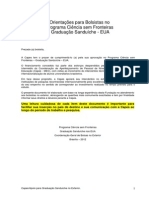 Orientações Bolsistas CSF - CAPES