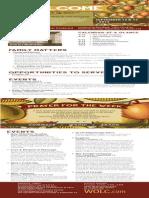 Church Bulletin for September 13 & 15, 2013