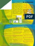 Tríptico II JORNADAS EDUCACIÓN SOCIAL EN EL SISTEMA EDUCATIVO