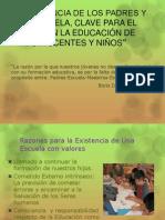 Influencia de Los PAdres y La Escuela, Claves Para La Responsabilidad Eudcativa