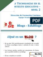 Presentación Blogs - Edublogs