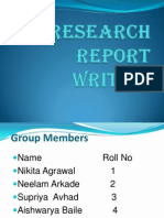 Layout of Research Report