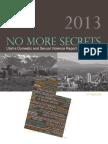 No More Secrets Annual Report