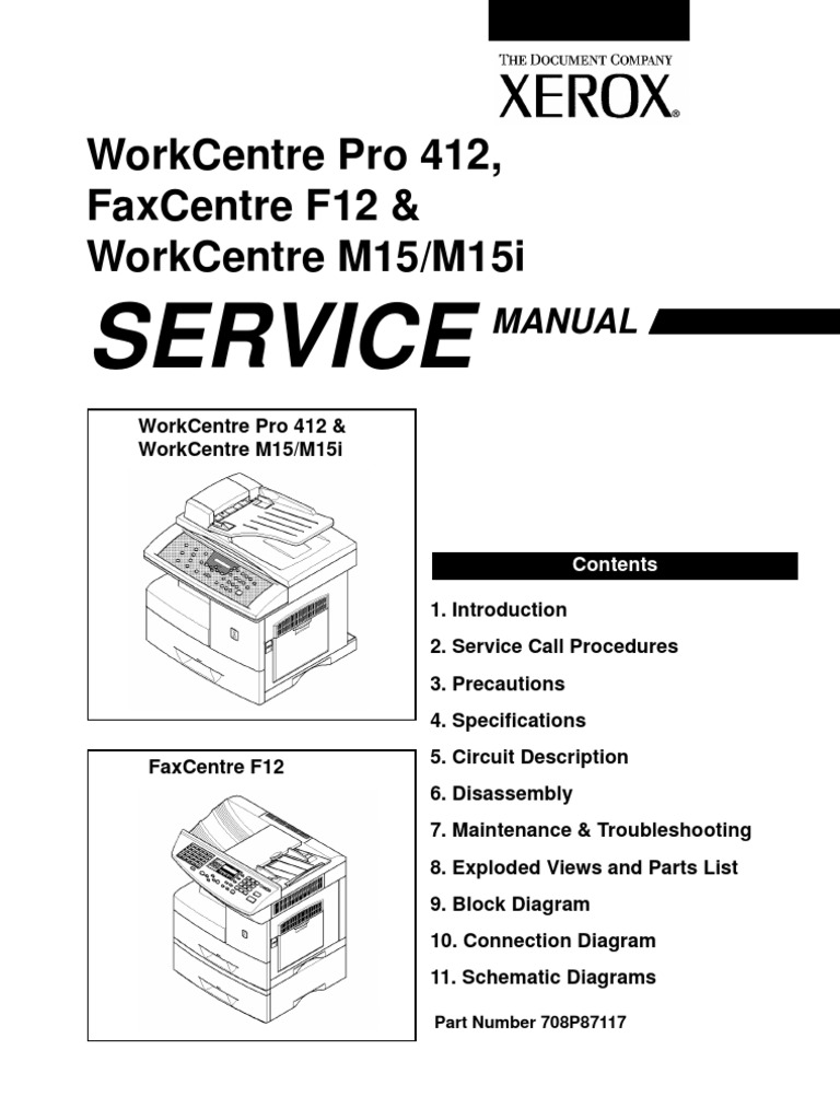 Work Centre M15 Service Manual | Electrostatic Discharge | Battery  (Electricity)