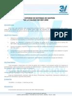 auditor interno en sistemas de gestin de la calidad iso 900120082