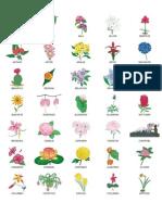 Overzichtsafdruk bloemen