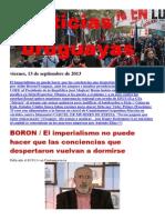 Noticias Uruguayas Viernes 13 de Setiembre Del 2013