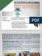 RÉGIMEN ECONÓMICO DE LA CONSTITUCION POLITICA DEL PERÚ