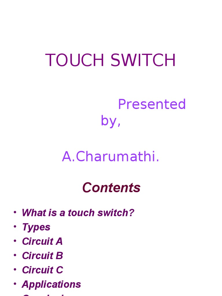 Touch Switch Electronic Circuits 8085 Projects Blog Archive Digital