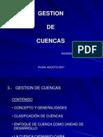 GESTIÓN DE CUENCAS