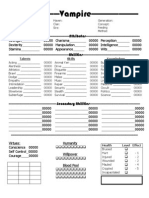 Our REVISED Vampire Character Sheet