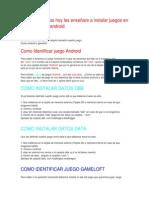 Instalar Juegos en La Sd Android