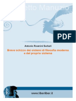 Antonio Rosmini - Breve Schizzo Dei Sistemi Di Filosofia