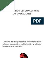 COMPRENSIÓN DEL CONCEPTO DE LAS OPERACIONES