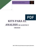 Kits Para El Analisis de Aceites y Grasas