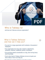 Who is Tableau for?
